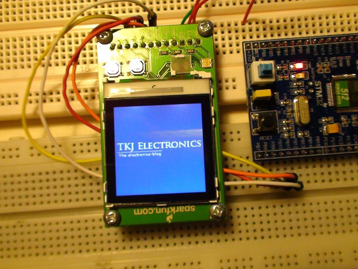 Tkj Electronics Stm32 Nokia Lcd Pic16f84 Circuit For Logo
