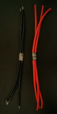 Before connectors and heat shrink