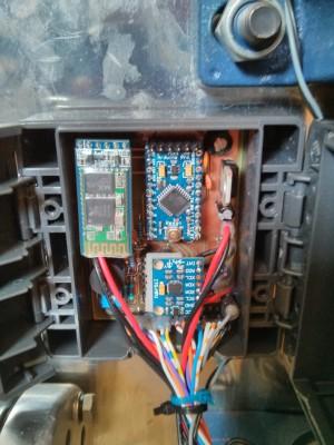 Electronics mounted inside enclosure