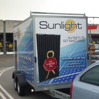 Sunlight trailer with panels ready for install