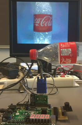 Spartan-3 Test setup with working camera and VGA output for debugging