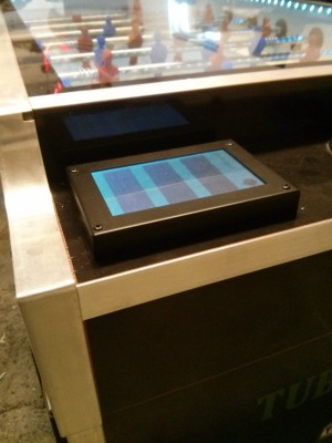 Installed LCD display