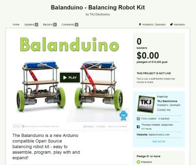Balanduino Kickstarter