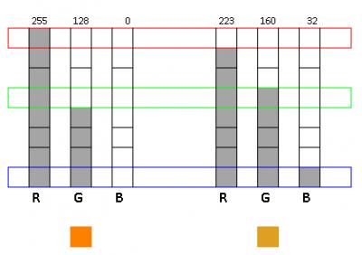 Figure 2.2 - Different representation of orange