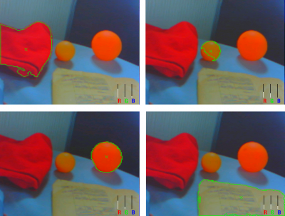 Figure 3.3 - Different objects of similar color are recognized separately