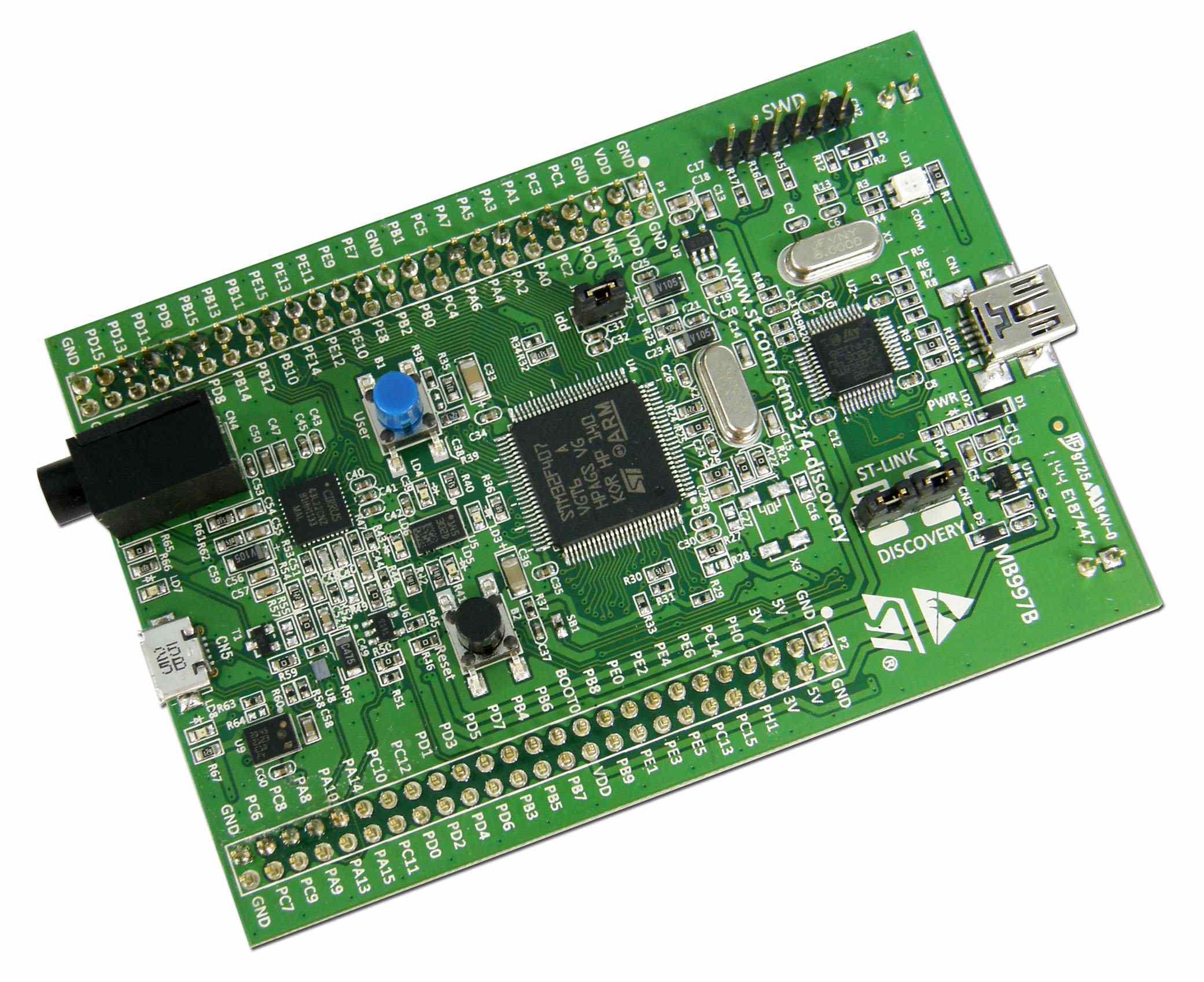 Układ STM32F4 wykorzystany do projektu sterownika drukarki trójwymiarowej. Źródło: blog.tkjelectronics.dk