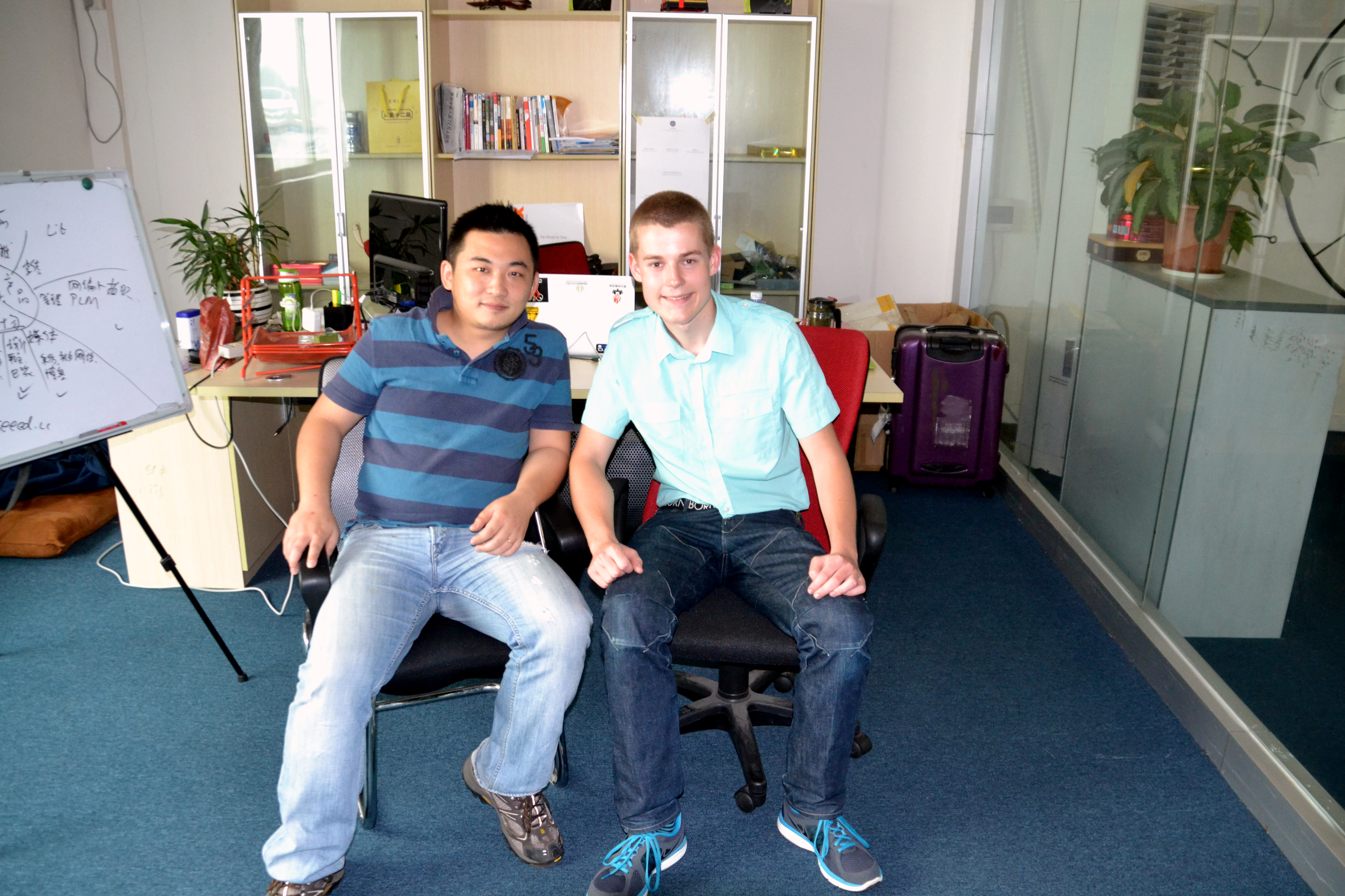 SeeedStudio CEO and me