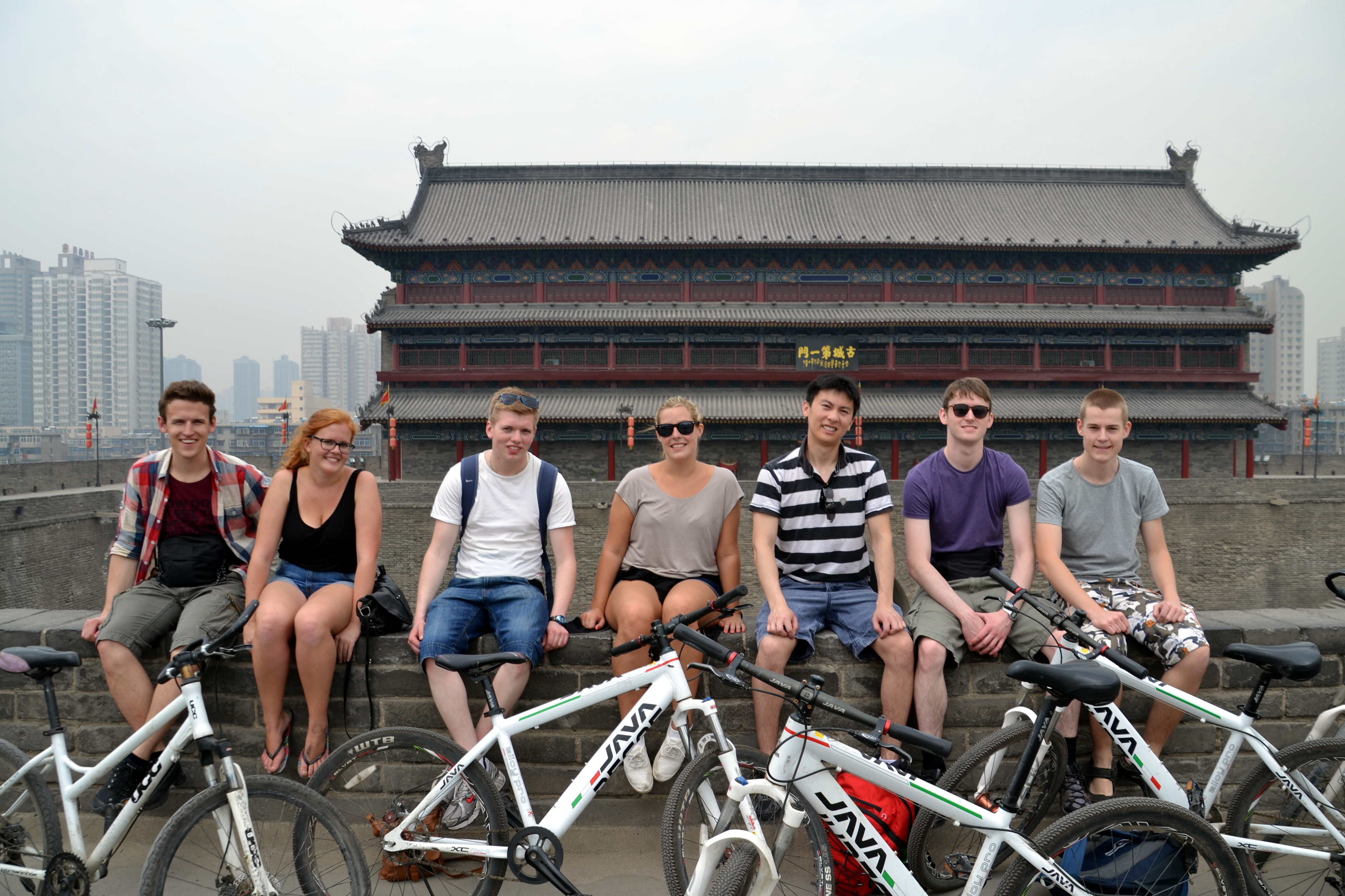 Bicycle ride in Xi'an